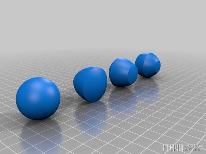 非圆球体 3D打印模型渲染图