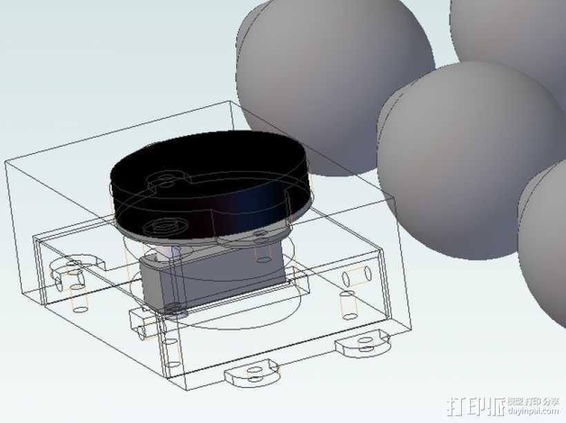 孵蛋机翻蛋器 3D打印模型渲染图