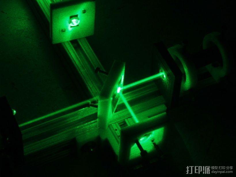 迈克尔逊干涉仪 3D打印模型渲染图