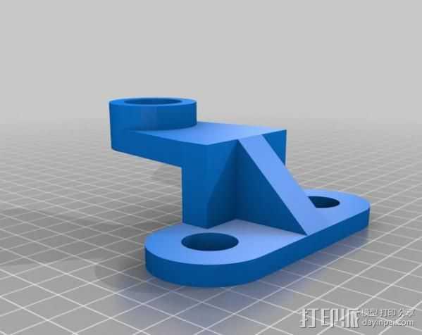 垂直杆支撑 3D打印模型渲染图