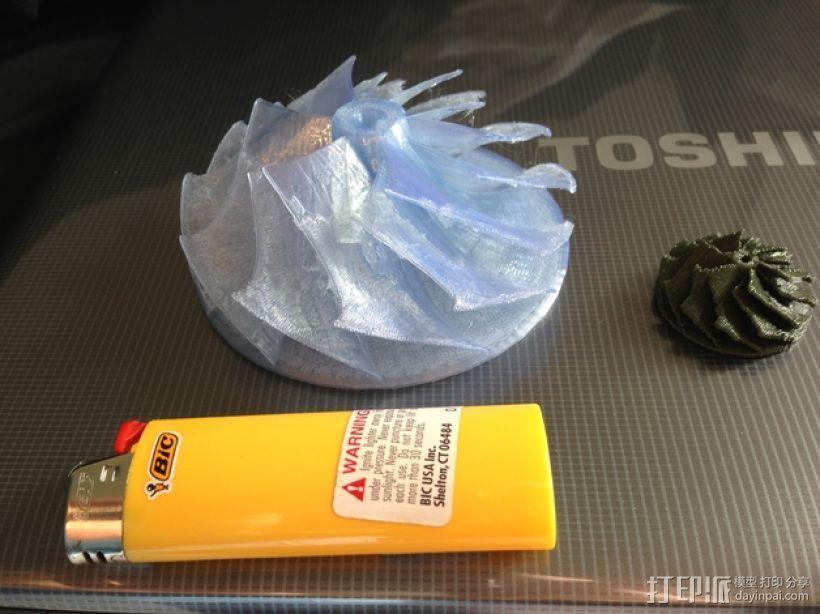 涡轮增压器叶轮 3D打印模型渲染图