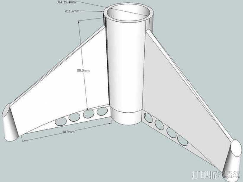 BT20火箭模型 3D打印模型渲染图
