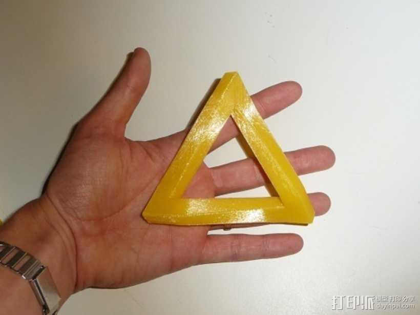 参数化潘洛斯三角形 3D打印模型渲染图