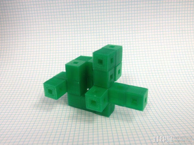 联锁立方体 3D打印模型渲染图