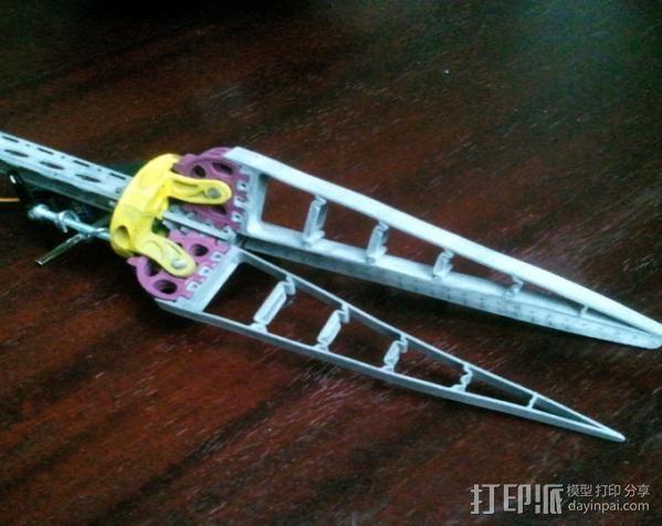仿生爪 3D打印模型渲染图