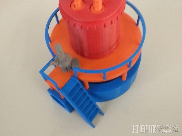 玩具反应堆 3D打印模型渲染图