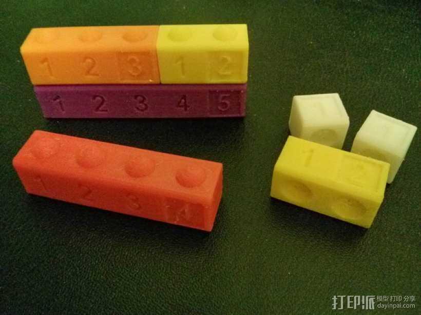 数字方块 3D打印模型渲染图