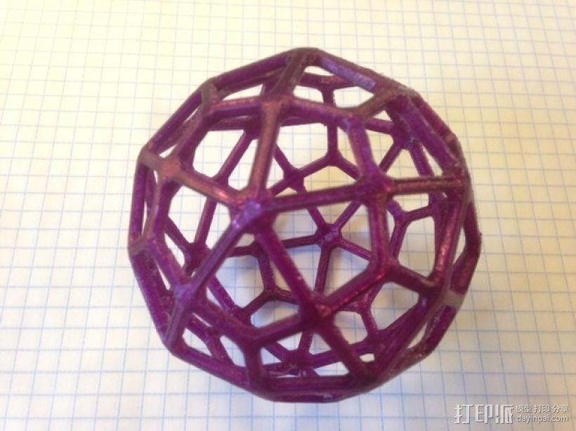 鸢形六十面体 3D打印模型渲染图