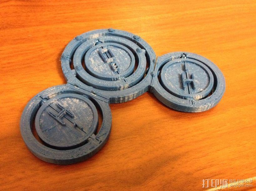 水分子模型 3D打印模型渲染图