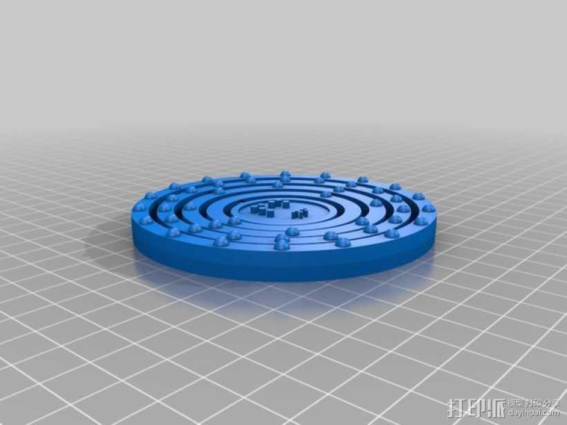 钯原子模型 3D打印模型渲染图