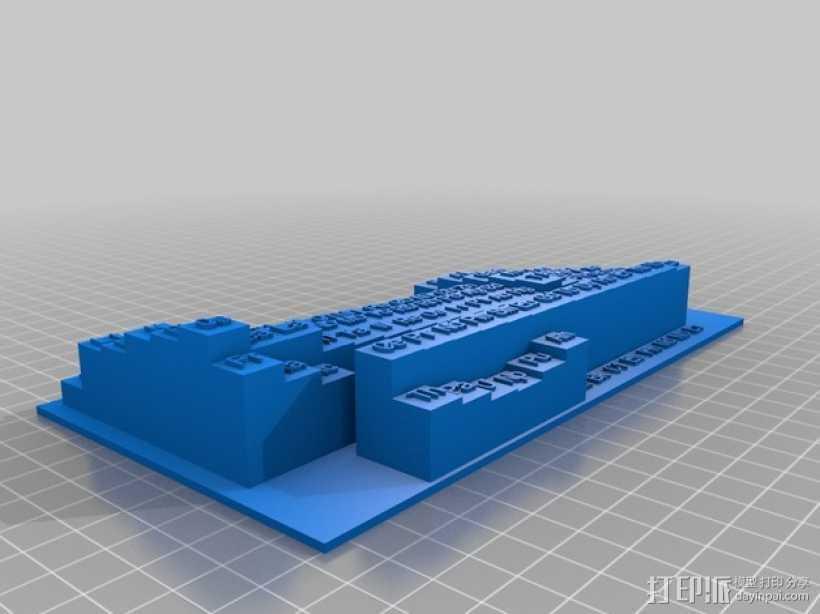 3D元素周期表 3D打印模型渲染图