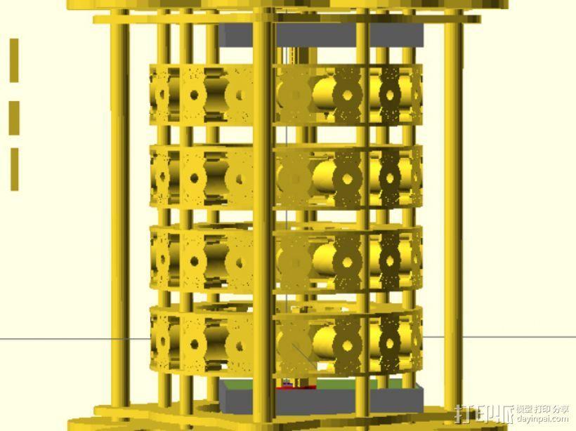 发电机组 3D打印模型渲染图