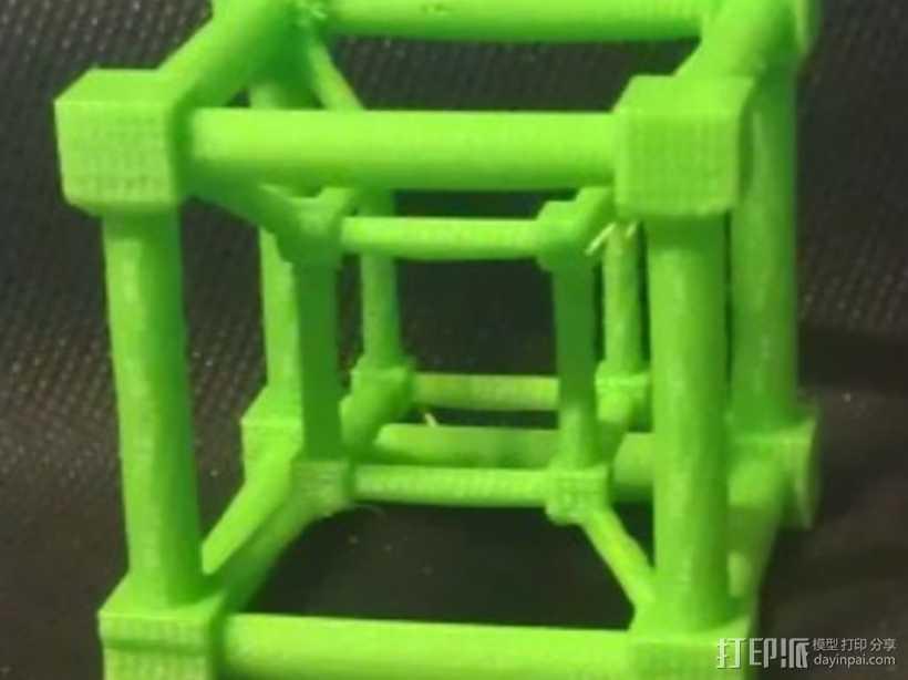 超立方体 四维超正方体 3D打印模型渲染图