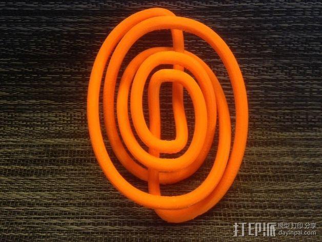 螺旋结 3D打印模型渲染图