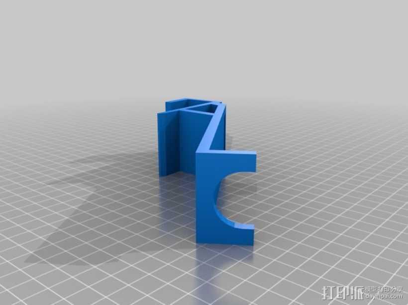 壁挂式吸管架 3D打印模型渲染图