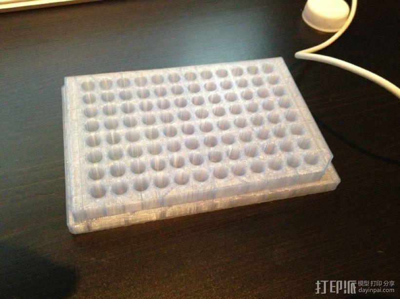 96孔微孔板 酶标仪 3D打印模型渲染图
