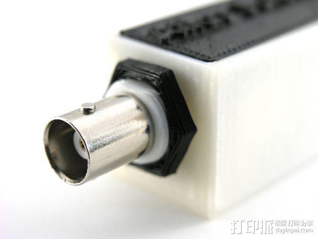 USB电路盒 3D打印模型渲染图