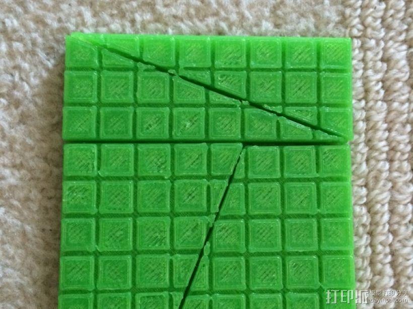 失踪的正方形 裁剪悖论 3D打印模型渲染图
