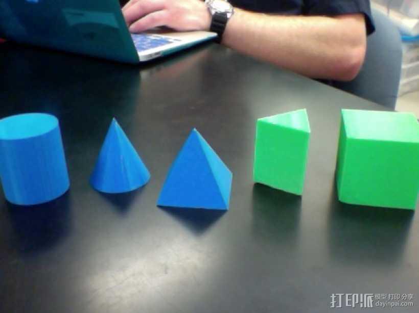 几何体  3D打印模型渲染图