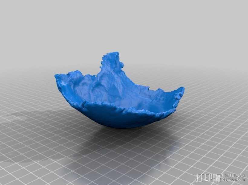 右顶骨模型 3D打印模型渲染图