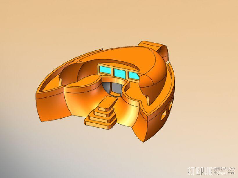 火星基地 太空舱模型 3D打印模型渲染图