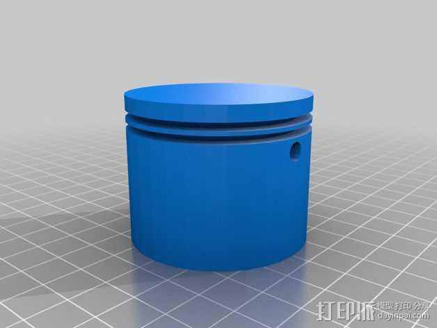 2冲程活塞 3D打印模型渲染图