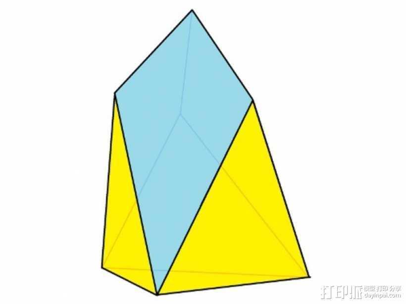 七面体 3D打印模型渲染图