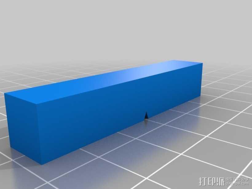 长方体 3D打印模型渲染图