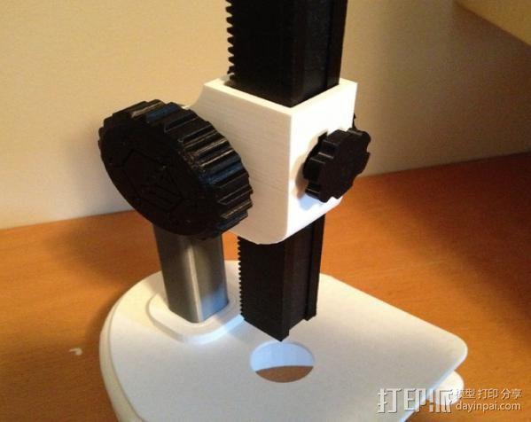 显微镜对焦锁 3D打印模型渲染图