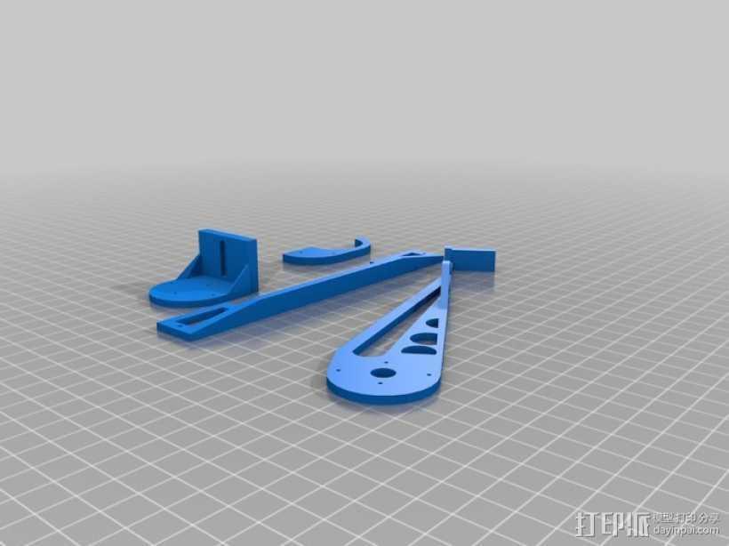 伺服机构臂 3D打印模型渲染图