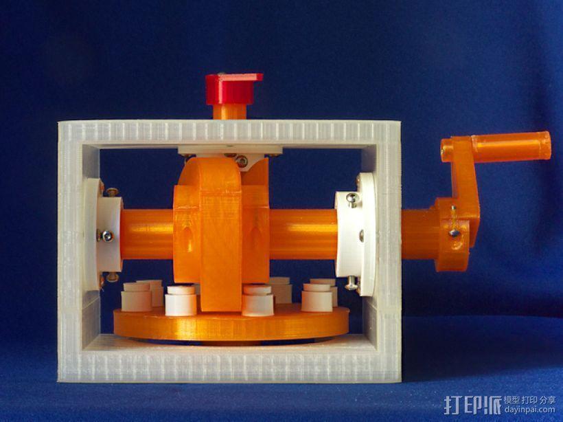 蜗形凹轮分度箱 3D打印模型渲染图