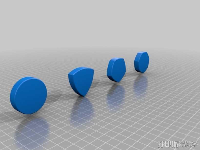 鲁洛多边形模型 3D打印模型渲染图