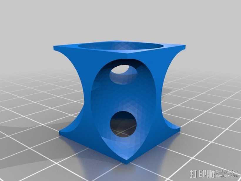 体心立方晶格模型 3D打印模型渲染图