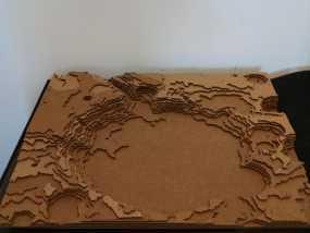 古谢夫环形山 陨石坑模型
