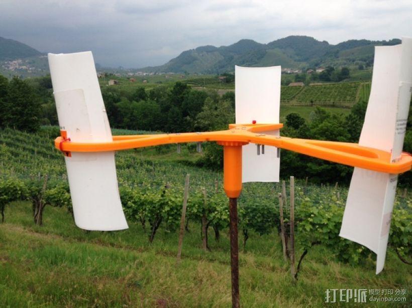竖轴风车  3D打印模型渲染图
