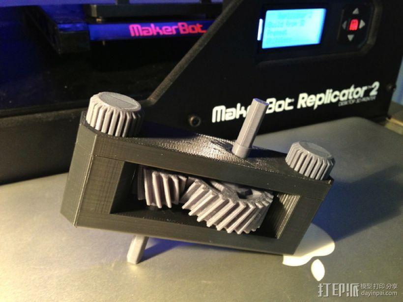 变速箱 齿轮箱 3D打印模型渲染图