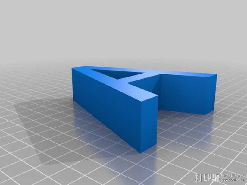 希腊字母 字母模型 3D打印模型渲染图