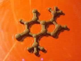 可可碱分子模型