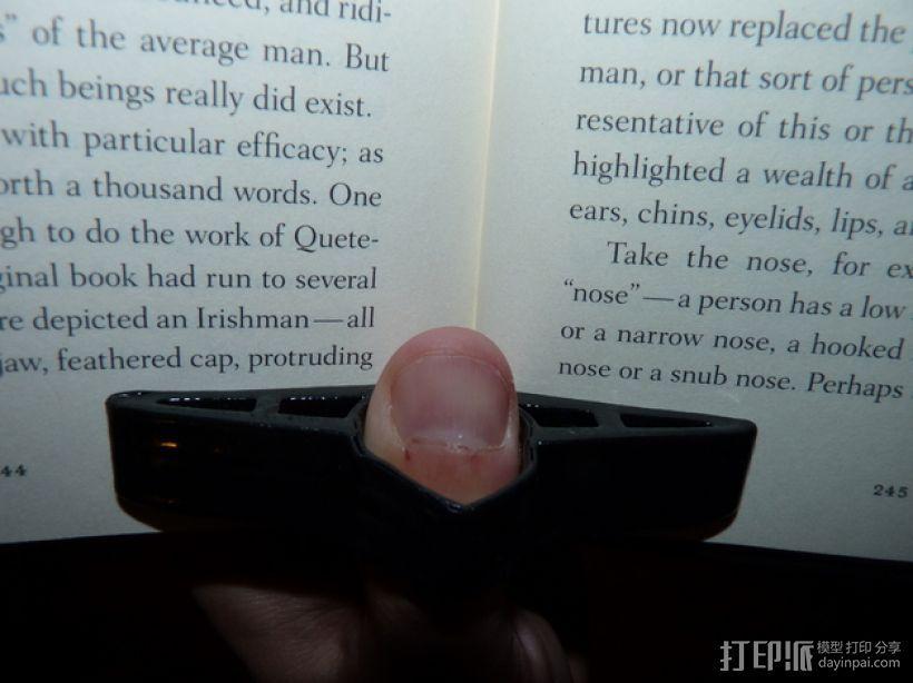 读书指环 3D打印模型渲染图