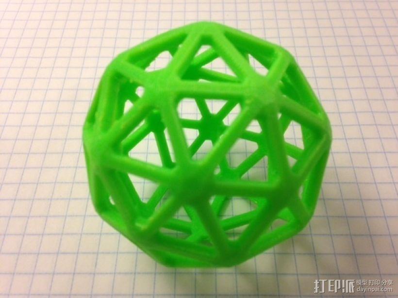 五角化十二面体 3D打印模型渲染图