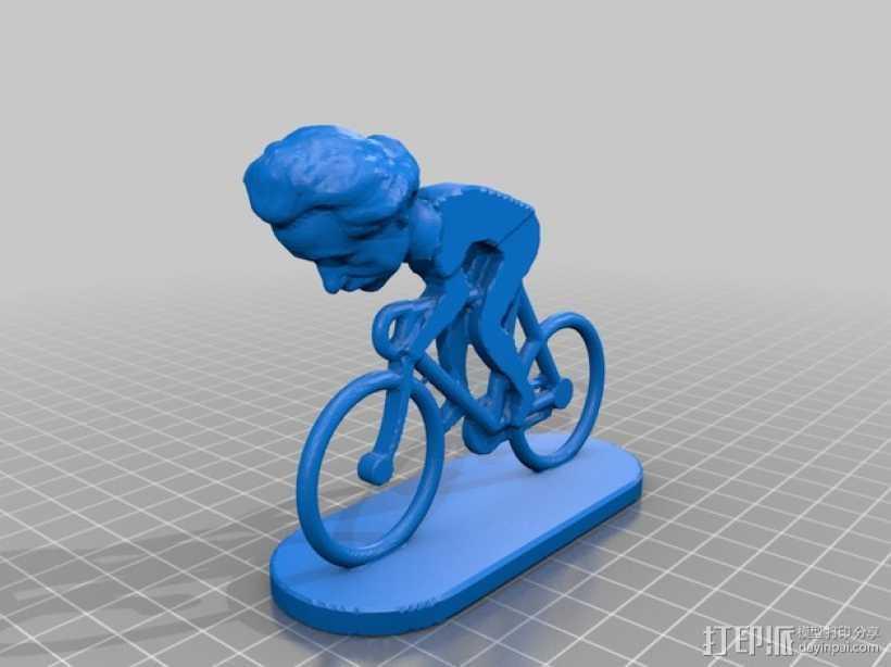爱因斯坦 自行车 3D打印模型渲染图