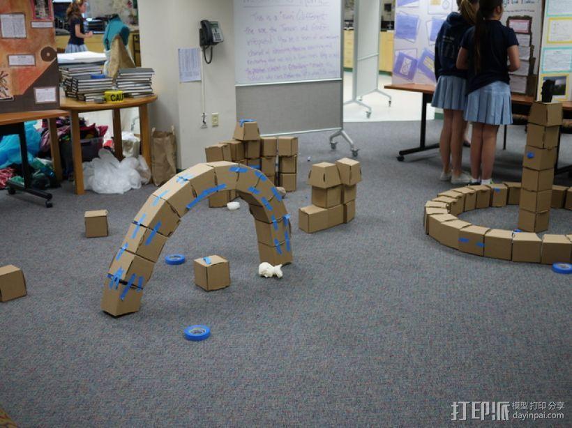 半圆形拱门 3D打印模型渲染图