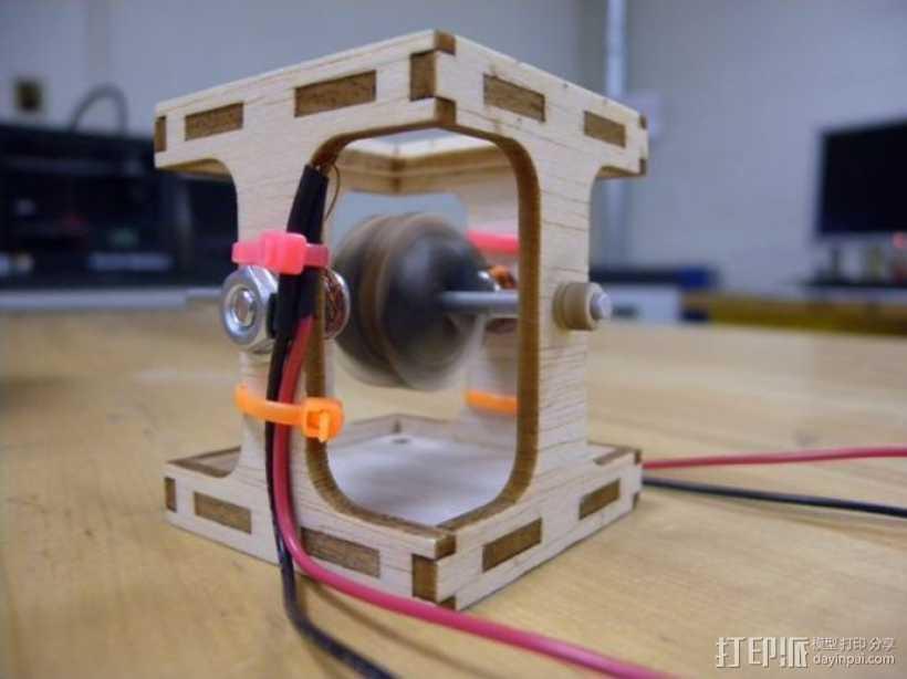 无刷直流马达 3D打印模型渲染图
