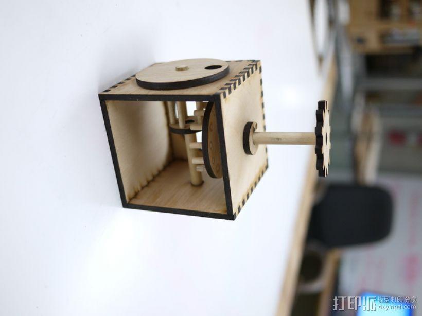 齿轮箱 3D打印模型渲染图