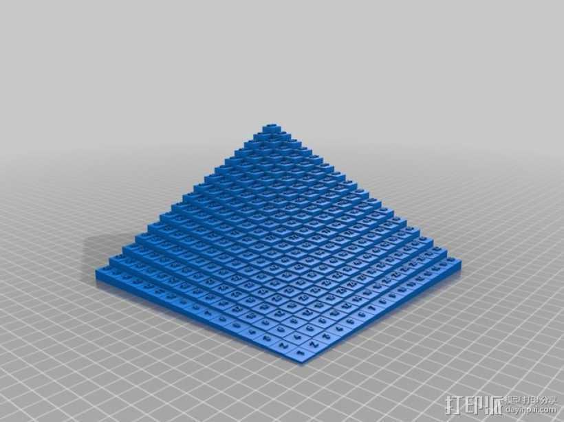 梯形乘法表 3D打印模型渲染图