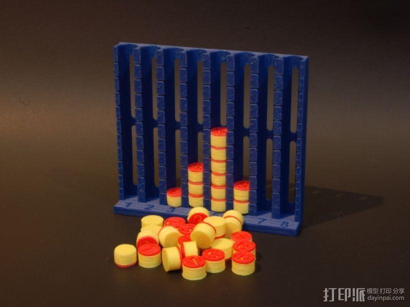 柱形图 教学工具 3D打印模型渲染图