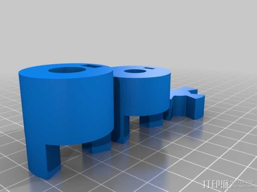参数化联轴器 3D打印模型渲染图