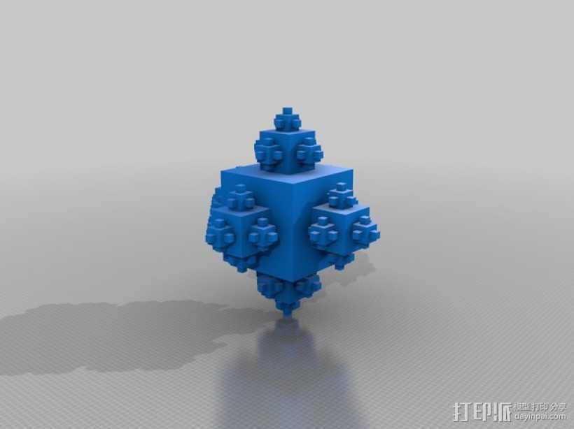 分形立方体 3D打印模型渲染图