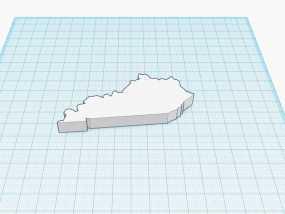 肯塔基州地图 地图轮廓模型