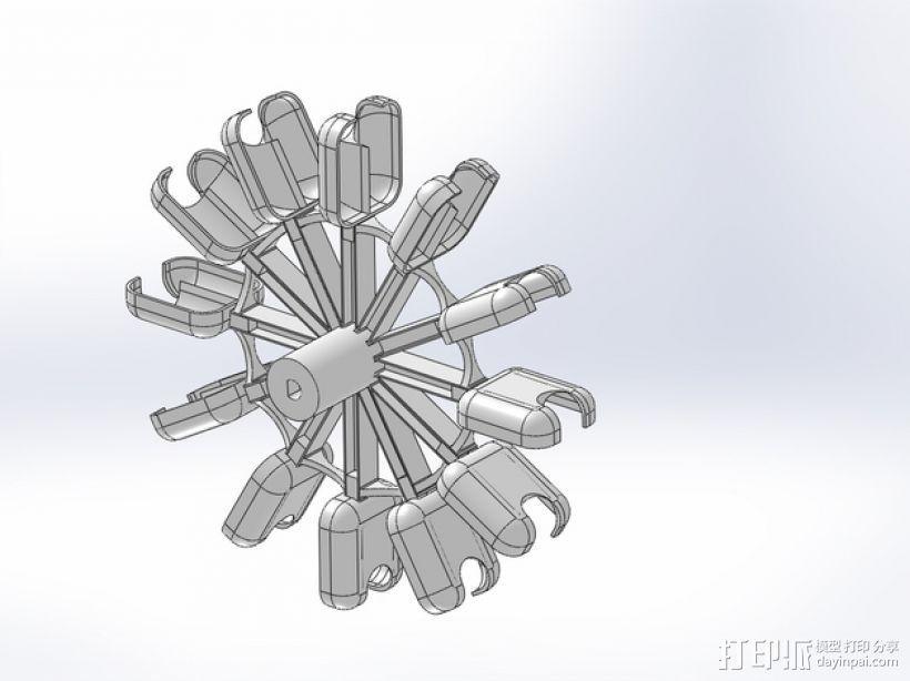 巴尔顿水轮 3D打印模型渲染图